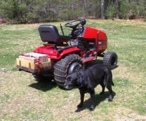 Tarsi guarding our new tractor. Making Preparations to 'Till the Land'